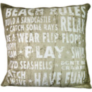 Park B. Smith® Beach Rules Decorative Pillow