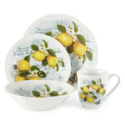 JCPenney Home™ Italian Lemons 16-pc. Dinnerware Set