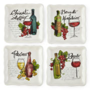 JCPenney Home™ Wine Cellar Set of 4 Square Appetizer Plates
