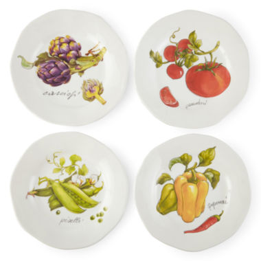 jcpenney.com | JCPenney Home™ Veggies Set of 4 Dinner Plates