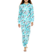 Characters Long-Sleeve One-Piece Hooded Pajamas