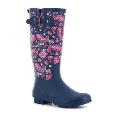 f940ff935d09 Western Chief Womens Classic Tall Plesant Paisley Rain Boots Waterproof  Buckle