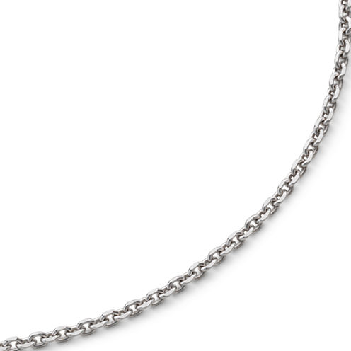 """Made in Italy 20"""" Diamond-Cut Cable Chain Sterling Silver"""