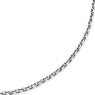 "jcpenney.com | 18"" Diamond-Cut Cable Chain Sterling Silver"