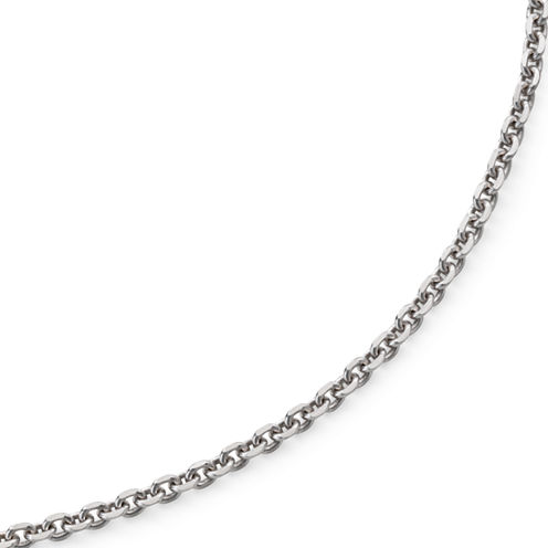 "Made in Italy 16"" Criss-Cross Sterling Silver Chain Necklace"
