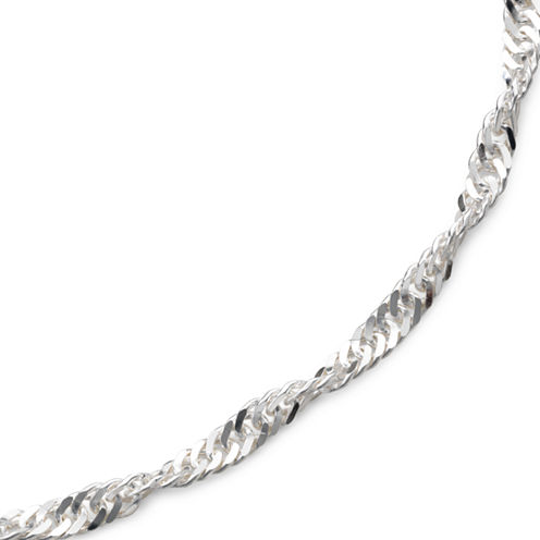 """Made in Italy 22"""" Singapore Chain Sterling Silver"""
