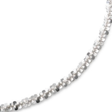 "jcpenney.com | 18"" Criss-Cross Chain Sterling Silver"