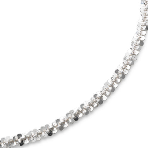 """18"""" Criss-Cross Chain Sterling Silver"""