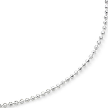 "jcpenney.com | 18"" Diamond-Cut Bead Chain Sterling Silver"