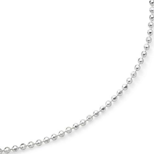 "18"" Diamond-Cut Bead Chain Sterling Silver"