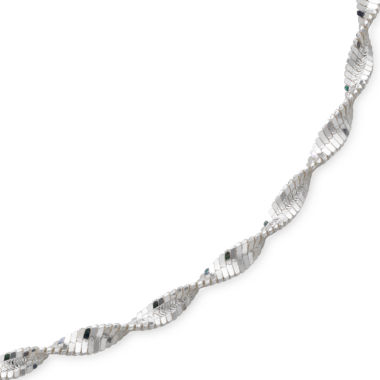 "jcpenney.com | 18"" Pave Twist Herringbone Sterling Silver"