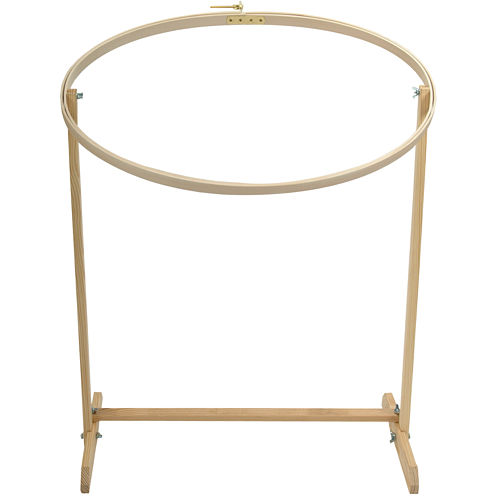 """Wood Oval Embriodery 31"""" Hoop with Floor Stand"""