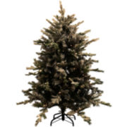 4½' Pre-Lit Flocked Pine Christmas Tree
