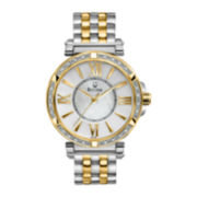 Bulova Womens Diamond-Accent Two-Tone Bracelet Watch