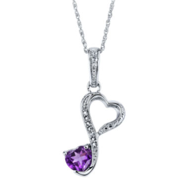jcpenney.com | Love Grows™ Genuine Amethyst & White Topaz Pendant Necklace
