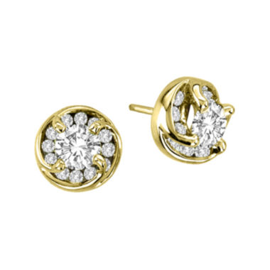 jcpenney.com | 1 CT. T.W. Diamond Stud Earrings in 14K Yellow Gold