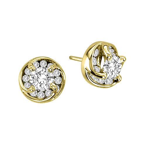 1 CT. T.W. Diamond Stud Earrings in 14K Yellow Gold