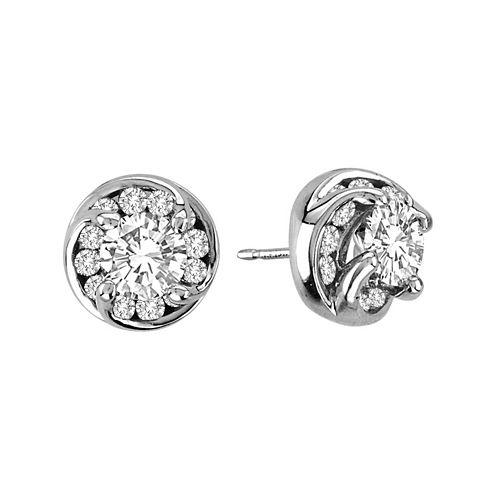 2 CT. T.W. Diamond Stud Earrings in 14K White Gold