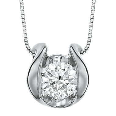 jcpenney.com | Sirena™ ¼ CT. Diamond Solitaire Pendant Necklace
