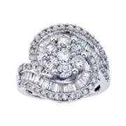 2½ CT. T.W. Diamond Swirl Ring