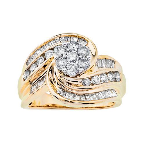 1¼ CT. T.W. Diamond Swirl Ring