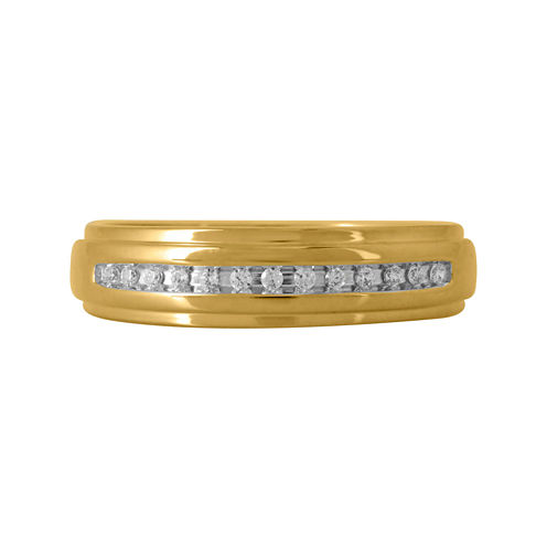 Mens 1/10 CT. T.W. Diamond Band