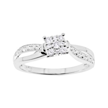 jcpenney.com | 1/6 CT. T.W. Diamond Sterling Silver Promise Ring
