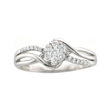 jcpenney.com | ¼ CT. T.W. Diamond Sterling Silver Cluster-Top Promise Ring