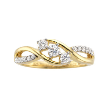 jcpenney.com | ⅓ CT. T.W. Diamond 3-Stone Promise Ring