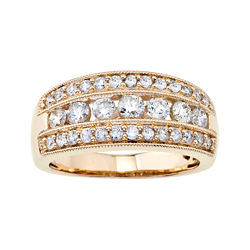1 CT. T.W. Diamond 10K Yellow Gold Band