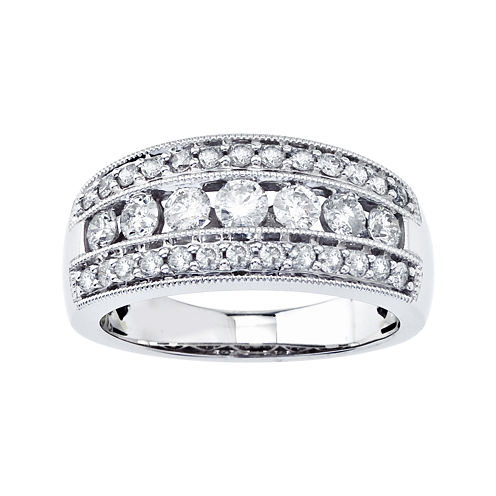 1 CT. T.W. Diamond 10K White Gold Band