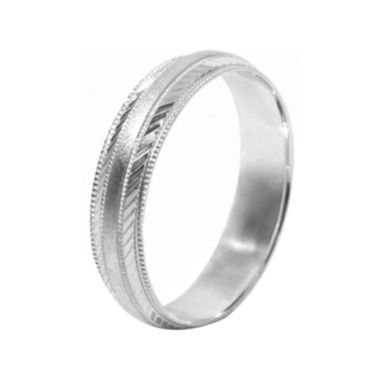 jcpenney.com |  Mens 10K White Gold 5mm Engraved Wedding Band