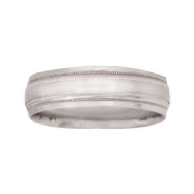 jcpenney.com |  Mens 10K White Gold 6mm Wedding Band