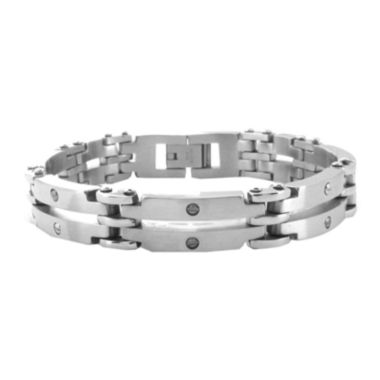 jcpenney.com | Mens Double-Strand Stainless Steel Link Bracelet