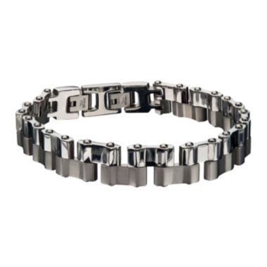 jcpenney.com | Mens Two-Tone Stainless Steel Offset Link Bracelet
