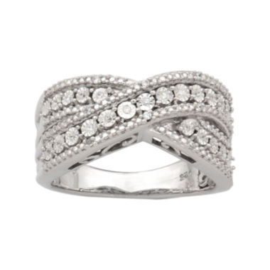 jcpenney.com | 1/10 CT. T.W. Sterling Silver Twisted Diamond Ring