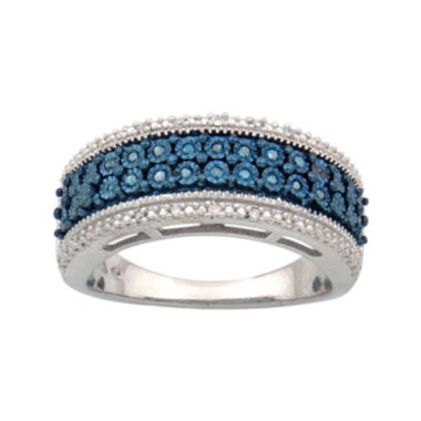 jcpenney.com | 1/10 CT. T.W. White & Color-Enhanced Blue Diamond Ring