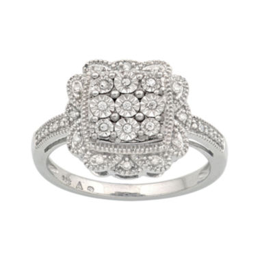 jcpenney.com | 1/10 CT. T.W. Sterling Silver Diamond Ring