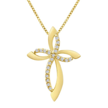 jcpenney.com | 1/10 CT. T.W. Diamond Cross Pendant Necklace
