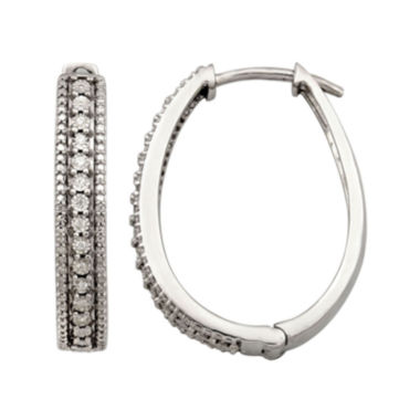 jcpenney.com | 1/10 CT. T.W. Diamond Hoop Earrings