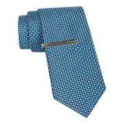 JF J. Ferrar® Harlem Tie and Tie Bar Set
