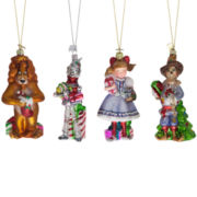 Kurt Adler Noble Gems Wizard of Oz 4-pc. Ornament Set
