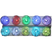 Kurt Adler Silver Tinsel Balls LED Light Set