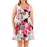 Worthington® Sleeveless Scuba Sheath Dress - Plus