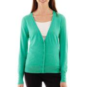 Worthington® Essential Long-Sleeve V-Neck Cardigan Sweater - Tall