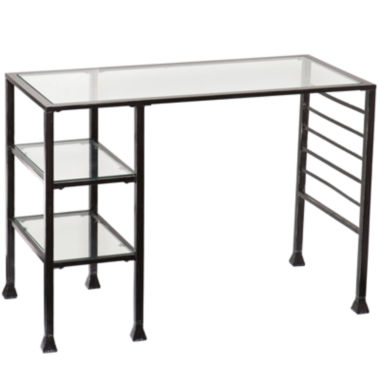 jcpenney.com | Metal and Glass Writing Desk