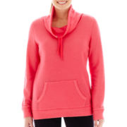 Made For Life™ Long-Sleeve French Terry Cowlneck Tunic