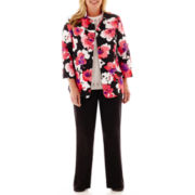 Alfred Dunner® Play On Color Floral Jacket, Sweater Shell or Pull-On Pants -Plus