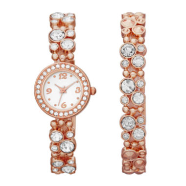 jcpenney.com | Womens Crystal-Bubble Watch and Bracelet Set