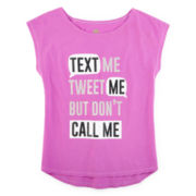 Total Girl® Sleeveless Graphic Tee - Girls 7-16 and Plus